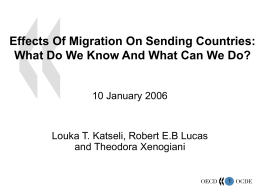 Effects Of Migration On Sending Countries: What Do We …
