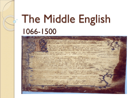 The Middle English - Moroccan American Studies