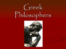 Greek Philosophers - Warren County Public Schools