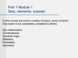 PowerPoint Presentation - Unit 1 Module 1 Sets, …