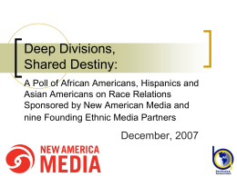 National Survey of African Americans, Hispanics, and …