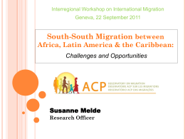 Migration and the MDGs from a South