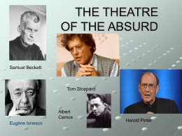 THE THETRE OF THE ABSURD