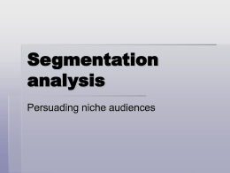 Segmentation Analysis PPT
