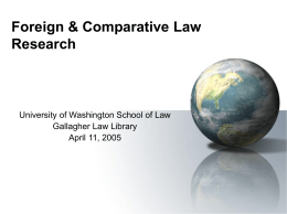Comparative Law Research