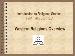 THST 110: Intro to the New Testament Prof. Felix Just, S.J.