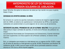 ANTEPROYECTO DE LEY DE PENSIONES PENSION …