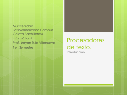 Procesadores de texto.