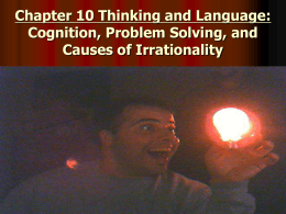 Chapter 10 Thinking and Language: Problem Solving and …