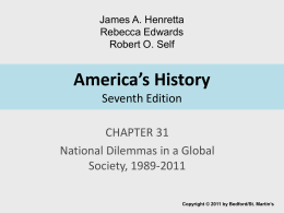 America's History Seventh Edition