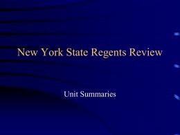 New York State Regents Review - Niagara Falls City School