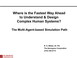 Fastest Way Ahead to Design of Complex Human Systems