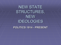 NEW STATE STRUCTURES: NATIONALISMS, …