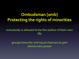 Ombudsman and democracy