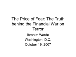 Money and Islamic Terrorism