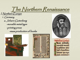 The Northern Renaissance - Barrington 220 School District