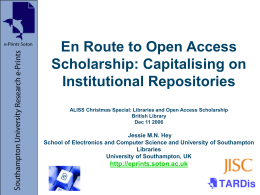 En route to open access scholarship: capitalising on IRs