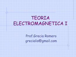 TEORIA ELECTROMAGNETICA I