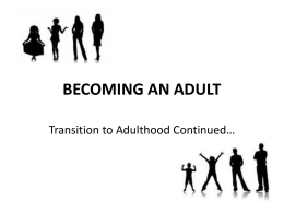 BECOMING AN ADULT - Upper Grand District School Board