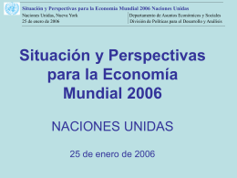 World Economic Situation and Prospects 2004