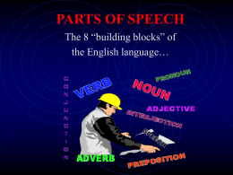 parts of speech ppt - Lake-Sumter State College | Home
