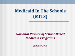 Medicaid In The Schools (MITS)