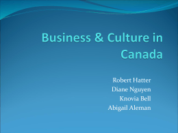 Business & Culture in Canada