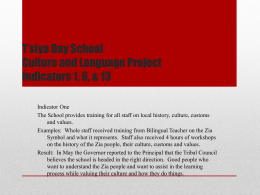 T'siya Day School Culture and Language Project