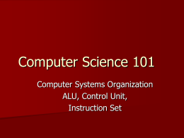 Computer Science 101 - Washington and Lee University