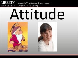 Attitude - DigitalCommons@Liberty University