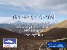 Tim Bodt, QCP/TMI