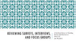 Handling Surveys and Interviews in NVivo