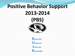 Positive Behavior Support - North Miami Middle School