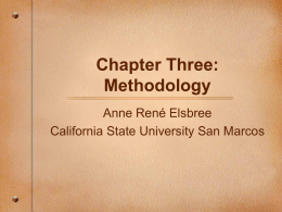 Chapter Three: Methodology