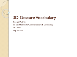 3D Gesture Vocabulary