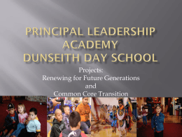 Principal Leadership Academy Dunseith Day School
