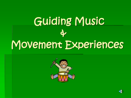 Guiding Music & Movement Experiences