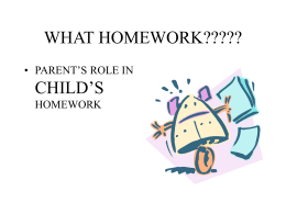 WHAT HOMEWORK????? - Centennial School District