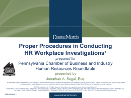 Proper Procedures in Conducting