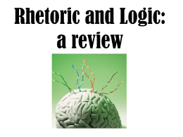 Rhetoric, Logic, and Fallacies: a review
