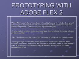 PROTOTYPING WITH ADOBE FLEX 2