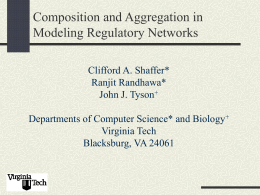 Composition and Aggregation in Modeling Regulatory …