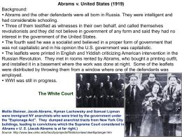U.S. Supreme Court , Abrams v. United States (1919)