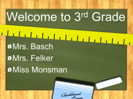 Welcome to 3rd Grade - Nordonia Hills Schools