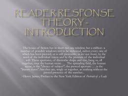 Reader Response Theory
