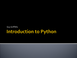 Introduction to Python - Dept of Meteorology Home Page