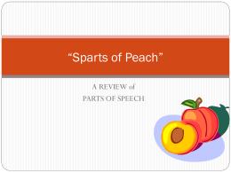 "Sparts of Peach"" - Jenks Public Schools"