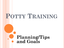 Potty Training - Prince George's County Public Schools
