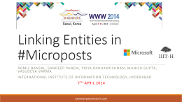 Linking Entities in #Microposts