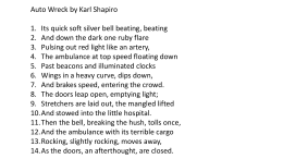Auto Wreck by Karl Shapiro - English First Additional …
